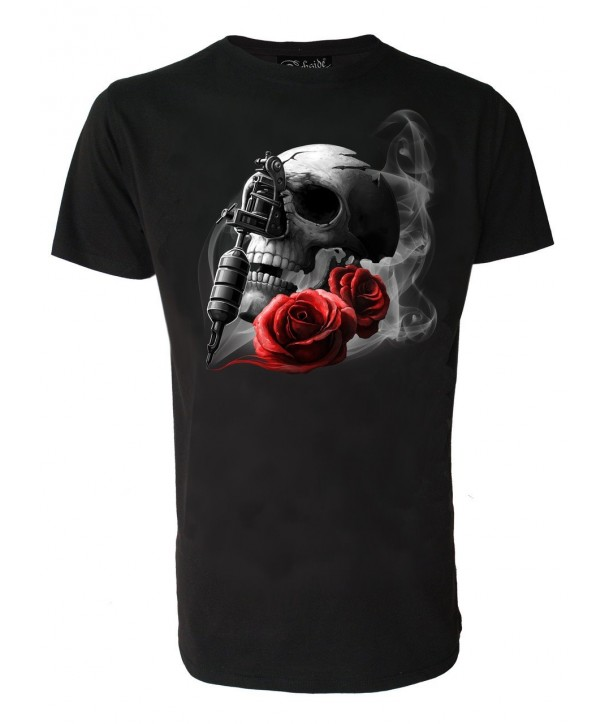 Tee Shirt Darkside Homme Tattoo Gun Skull