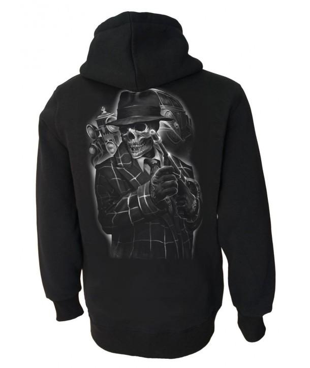 Sweat Shirt Darkside Homme Gangster Skeleton