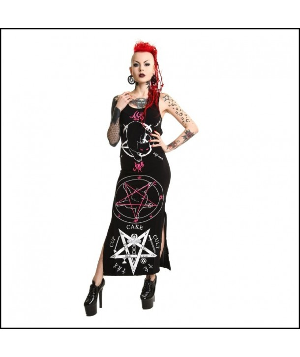 Robe Cupcake Cult Black Cat Maxi Dress