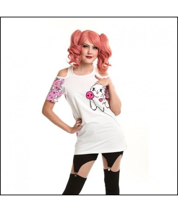 Tee Shirt Top Luv Bunny Kawaii