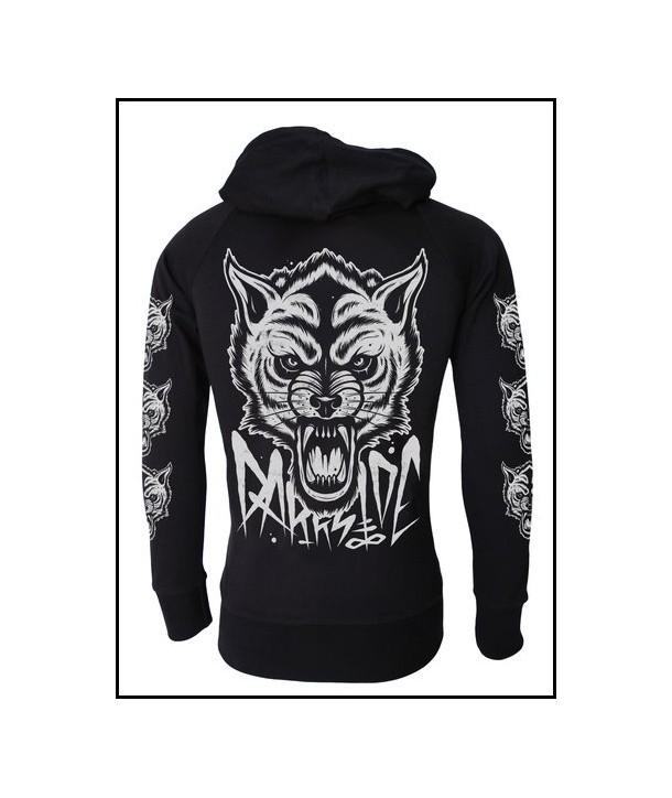 Sweat Shirt Veste Darkside Clothing Wolf Hoodie