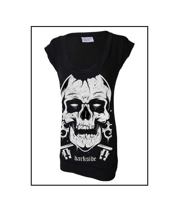 Robe Tunique Darkside Clothing Skull Fitted T