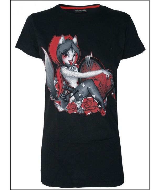 Tee Shirt Darkside Clothing Red Riding Hood