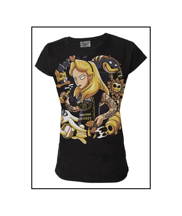 Tee Shirt Darkside Clothing Alice Womens