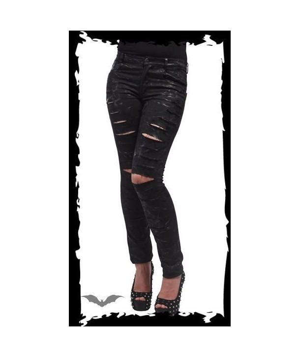 Pantalon Queen Of Darkness Ripped Legs