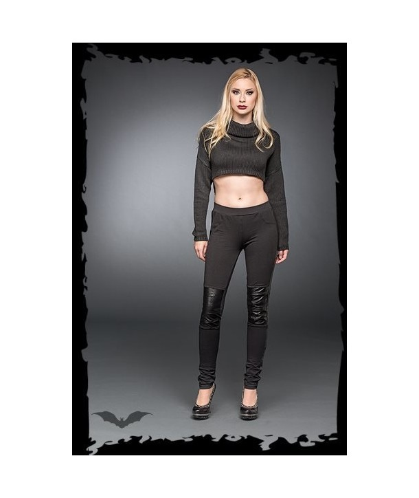 Leggings Queen Of Darkness Gothique Artificial Leather