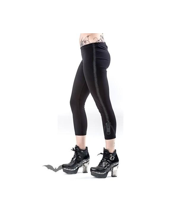 Leggings Queen Of Darkness Gothique Zipper Print