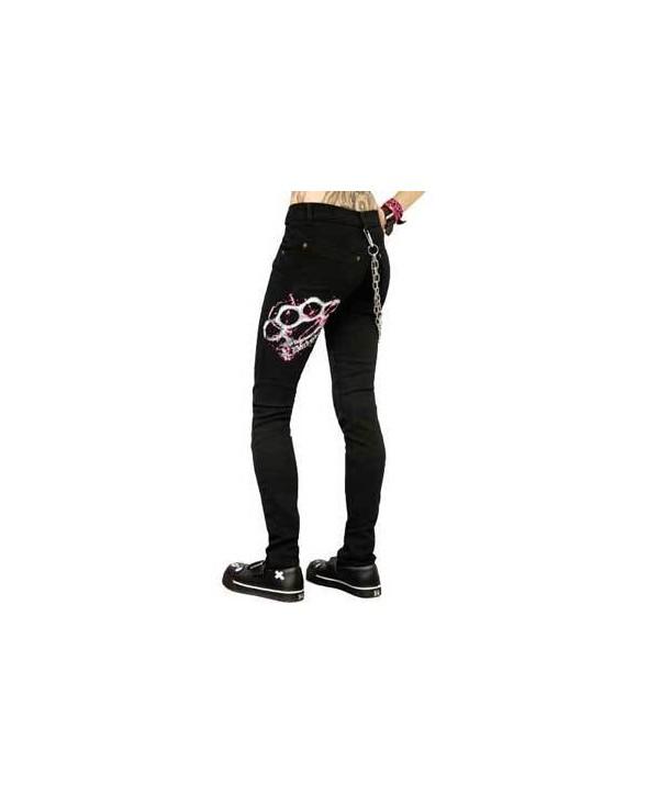 Pantalon Slim Darkside Pink Duster Low Rise