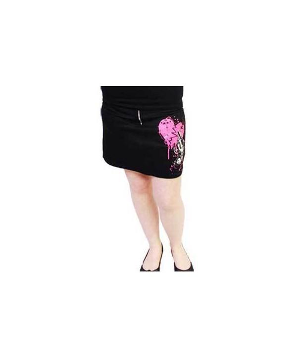 Jupe Darkside Pocket Skirt Pink Heart Gun