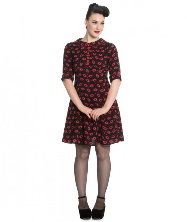 Robe Hell Bunny Kiss Me Deadly